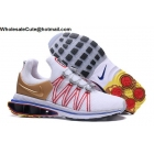 Mens Nike Shox Gravity White Gold Red