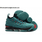 wholesale Nike LeBron 15 Aqua Green Black Red Mens Shoes