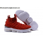 Nike LeBron 15 Red White Mens Shoes