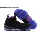 Nike LeBron 15 Black Purple Mens Shoes
