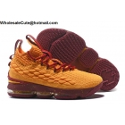 Nike LeBron 15 Orange Brown Mens Shoes