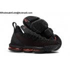 Nike LeBron 16 Black Orange Mens Shoes