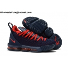 wholesale Nike LeBron 16 Navy Blue Red Mens Shoes