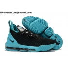 wholesale Nike LeBron 16 Black Blue Mens Shoes