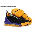 Nike LeBron 16 Lakers Black Purple Yellow Mens Shoes