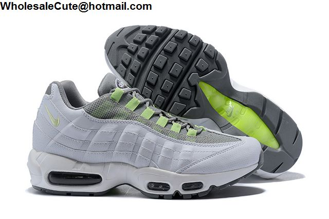 4fab8020198 Nike Air Max 95 SE Neon Green White Grey Mens Shoes -15807 ...