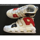 Nike Air More Uptempo USA White Navy Red Gold Mens Shoes