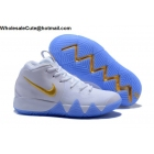 Nike Kyrie 4 White Gold Mens Shoes