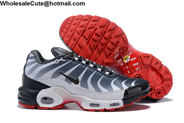 a72a4960bc3219 Nike Air Max Plus TN Tuned 1 Shark White Navy Red Mens Shoes -15874 ...