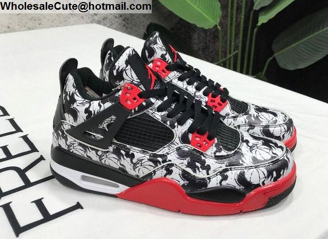 new products d36f4 93ca5 Mens   Womens Air Jordan 4 Tattoo Shoes