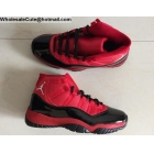 Air Jordan 11 Retro Red Black Mens Shoes