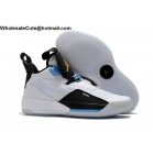 wholesale Air Jordan 33 White Black Blue Mens Shoes