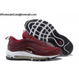 Nike Air Max 97 Wine Red White Womens Shoes