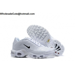 Nike Air Max Plus Premium White Black Mens Shoes