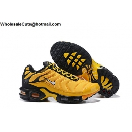 Nike Air Max Plus Frequency Yellow Black Mens Shoes