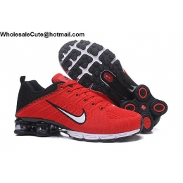 Nike Air Shox Flyknit Red White Black Mens Shoes