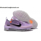 wholesale Off White Nike Air Max 97 Purple Black Womens Shoes