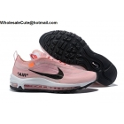 Off White Nike Air Max 97 Light Pink White Black Womens Shoes