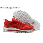 wholesale Nike Air Max 97 SE Pull Tab Red White Mens Shoes