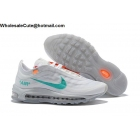 wholesale Mens & Womens Off White x Nike Air Max 97 White Mint