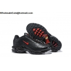 wholesale Nike Air Max Plus Premium Black Red Mens Shoes