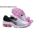 wholesale Womens Nike Air Zoom Shox White Black Pink Shoes