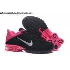 Womens Nike Air Shox Flyknit Black Pink Silver Shoes