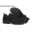 wholesale Nike Air Shox Flyknit All Black Mens Shoes