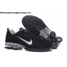 Nike Air Shox Flyknit Black Silver Mens Shoes