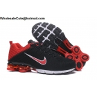 Nike Air Shox Flyknit Black Red White Mens Shoes