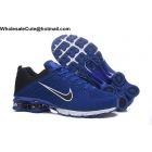 wholesale Nike Air Shox Flyknit Blue White Black Mens Shoes