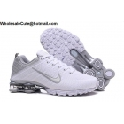 Nike Air Shox Flyknit White Silver Mens Shoes