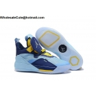 Air Jordan 33 Light Blue Yellow Mens Shoes