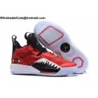 Air Jordan 33 Red Black White Mens Shoes