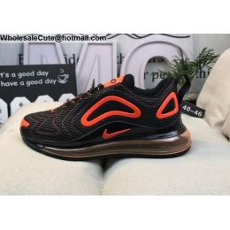 Nike Air Max 720 Black Orange Mens Shoes