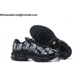 Nike Air Max Plus Print Black White Mens Trainer