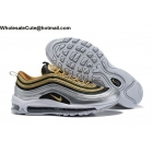Nike Air Max 97 SE Metallic Gold Silver Mens Shoes