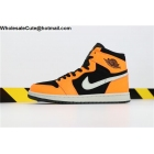 wholesale Air Jordan 1 Mid Black Orange White Mens Shoes