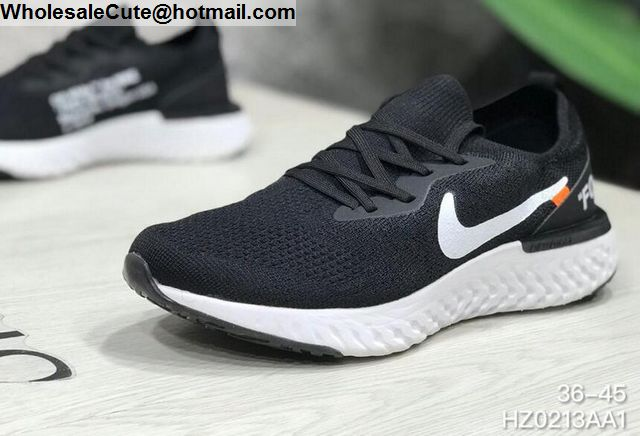 low priced d0348 54591 Mens   Womens Nike Epic React Flyknit Off White Black