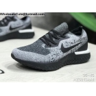 wholesale Mens & Womens Nike Epic React Flyknit Grey Black