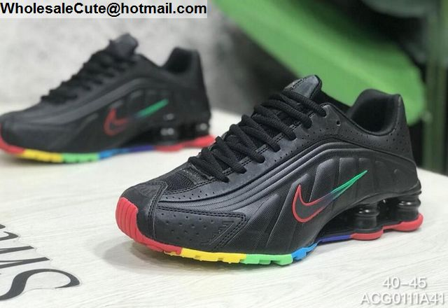 28adc3a8 Nike Shox R4 Black Rainbow Mens Trainer -16296 - Wholesale Sneakers