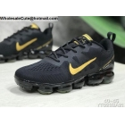 wholesale Nike Air VaporMax Flyknit Black Gold Mens Shoes