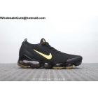 wholesale Nike Air Vapormax Flyknit 3.0 Black Gold Mens Shoes