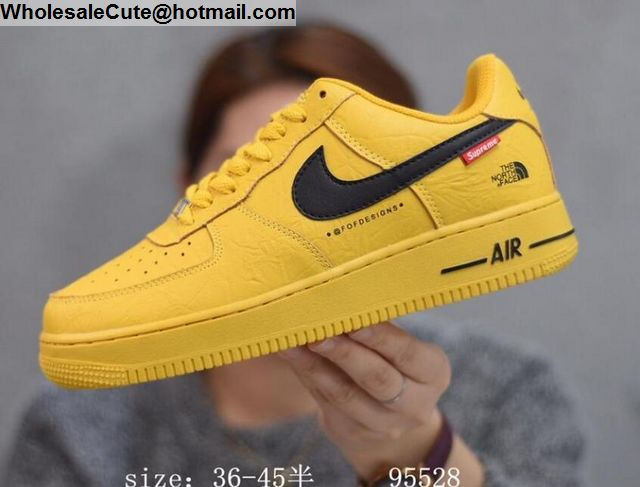 new product 623dd 6a569 Mens & Womens Nike Air Force 1 Low Supreme Yellow -16353 ...