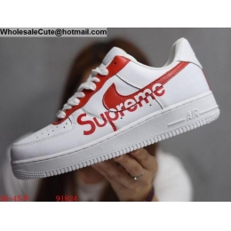 Mens & Womens Supreme Nike Air Force 1 Low White Red