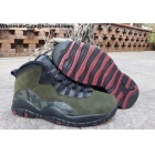 Air Jordan 10 Green Camo Mens Shoes