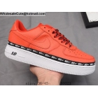 Mens & Womens Nike Air Force 1 Low Ribbon Red White