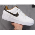 wholesale Mens & Womens Nike Air Force 1 Low White Monogram