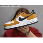 Nike Air Force 1 Low White Orange Black Mens Shoes