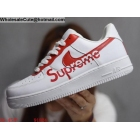 wholesale Mens & Womens Supreme Nike Air Force 1 Low White Red